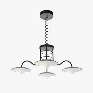 suspension lamp 01 generic 3D model