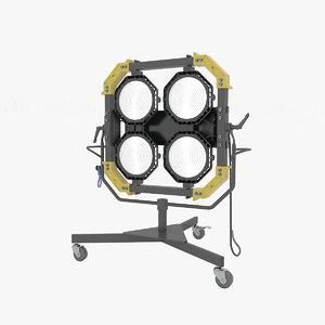 3D luxed-4 renders model