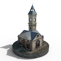 Clock Tower of Kayseri Textured