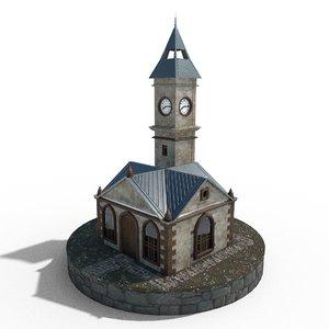 3D model clock tower kayseri