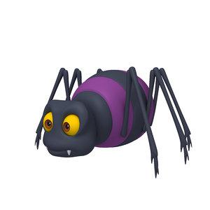 spider cartoon 3D model