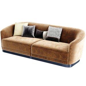 velvet sofa 3D