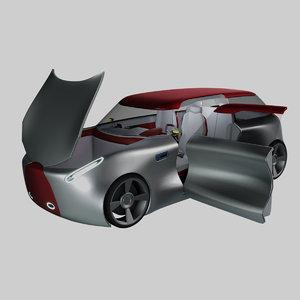 3D interior version concept electric