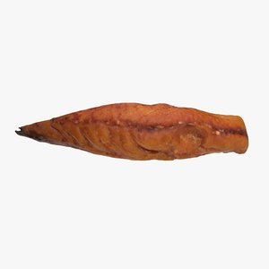 smoked mackerel 3D model