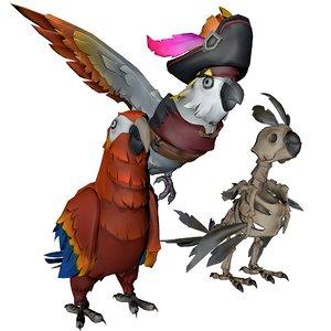animal bird nature 3D model