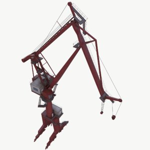 3D double boom crane real-time