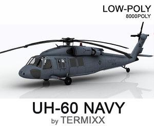 3D model uh-60 blackhawk navy