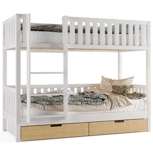 3D bunk childrens bed
