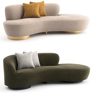 sofa shorty vladimir kagan 3D model