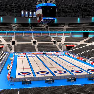 curling arena interior 3D model