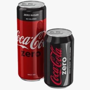3D coca cola zero set