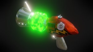 cortex gun crash bandicoot 3D model