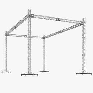 3D model real truss