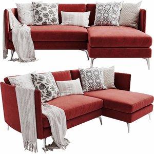 3D boconcept osaka 4 chaise lounge model