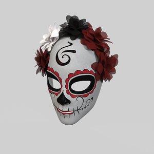 3D muerte mask model