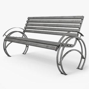 3D bench pbr model