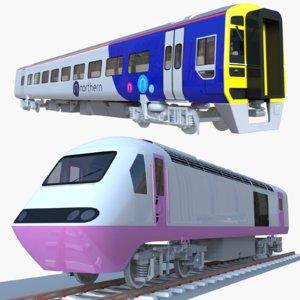 3D british train locomotive