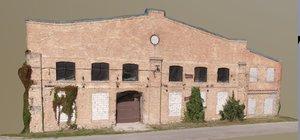 facade old factory 3D model