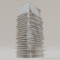 office buildings of the future Low-poly 3D model