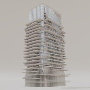 3D buildings future low-poly