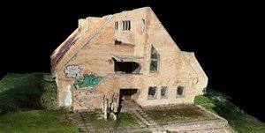 soviet brick building 3D model