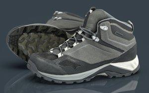3D hiking boots 3 model