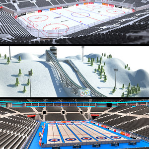 winter sports venues arena 3D model