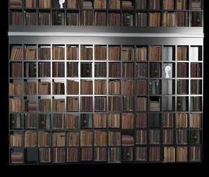 3D book library model