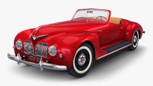 3D generic cabriolet retro car model