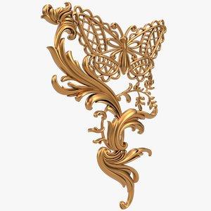 pendant x1 butterfly cnc 3D model