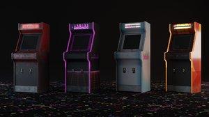 4 arcade machines chair 3D