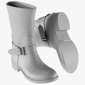 mesh women s boots 3D model