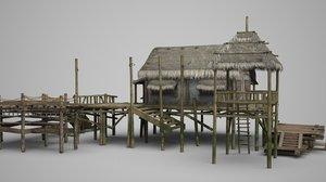 3D model old fishermen s