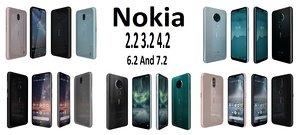 nokia 2 3 4 3D model