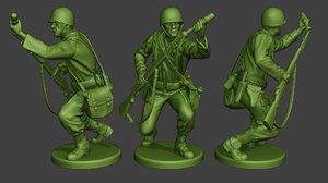 3D soldier ww2 m7 grenade2