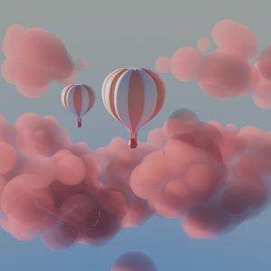 3D cloud air ballon model