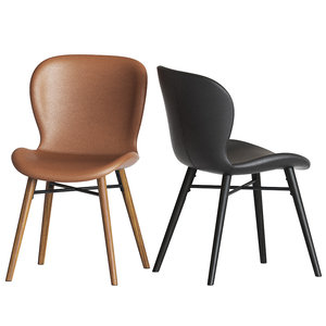 uma faux leather dining chair 3D model