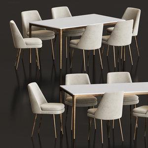 dining set 85 3D model