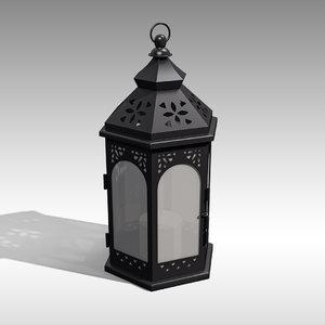 3D metal lantern