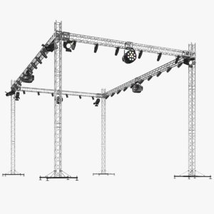 real stage light truss 3D model