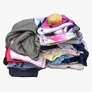 3D pile clothes
