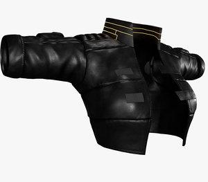 woman cyberpunk jacket 3D model