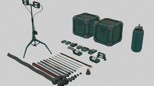 miscellaneous asset pack cables model