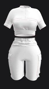 3D marvelous designer pocket t
