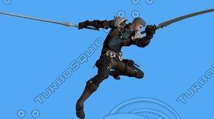 3D warrior medieval