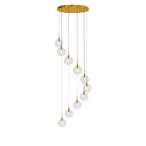 3D glass ball ceilings lamp