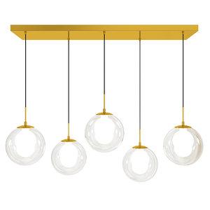 3D glass chandelier ball