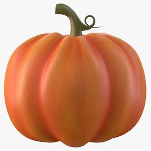 3D pumpkin cartoon model