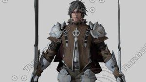 warrior medieval 3D model