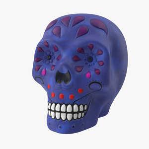 3D model skull decoration halloween